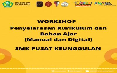 Workshop Penyelarasan Kurikulum dan Bahan Ajar (Manual dan Digital) SMK Cordova Margoyoso